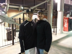 Walker and I after he picked up a win against Belmont.